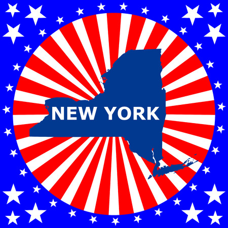 map of the U S  state of New York Vector