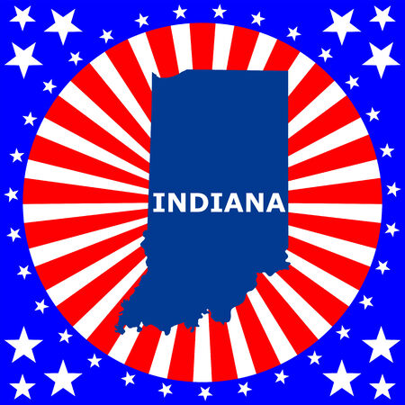 map of the U S  state of Indiana Vector