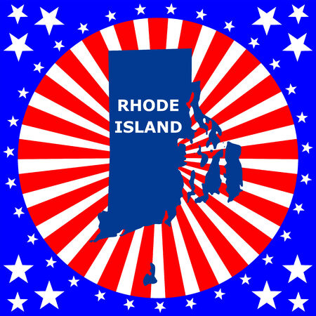 u s: map of the U S  state of Rhode Island Illustration
