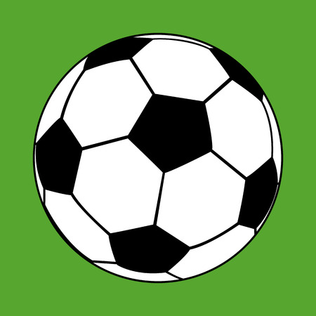 soccer ball on a green background Vector
