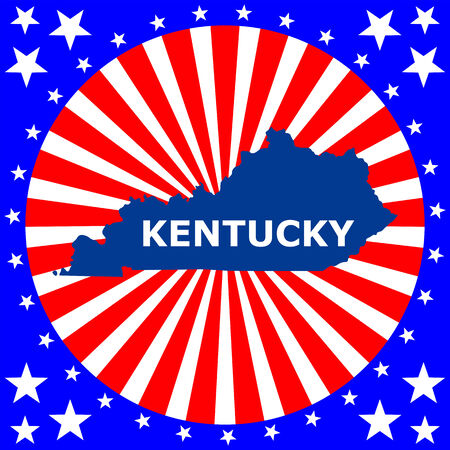 map of the U S  state of Kentucky Vector