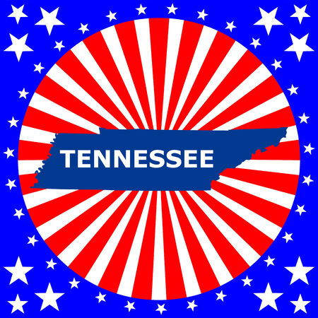map of the U S  state of Tennessee Vector