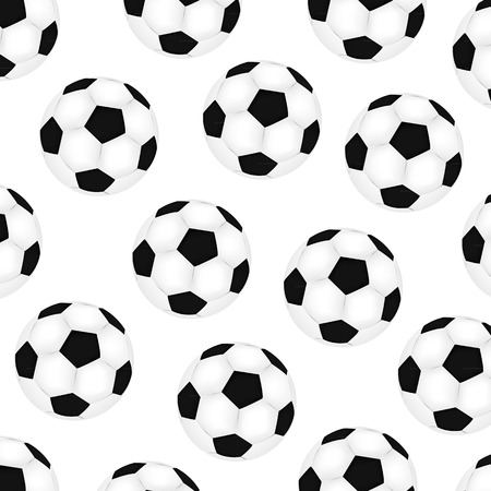 background soccer balls on white background Vector