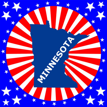 map of the U S  state of Minnesota Vector