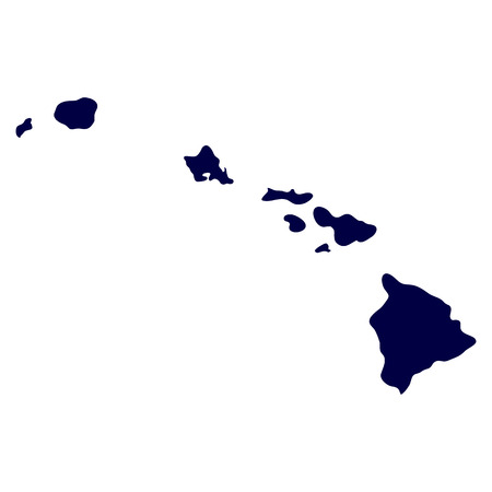 hawaii islands: map of the U S  state of Hawaii