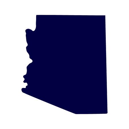 map of the U S  state of Arizona Ilustração