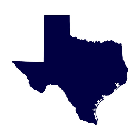 map of the U S  state of Texas