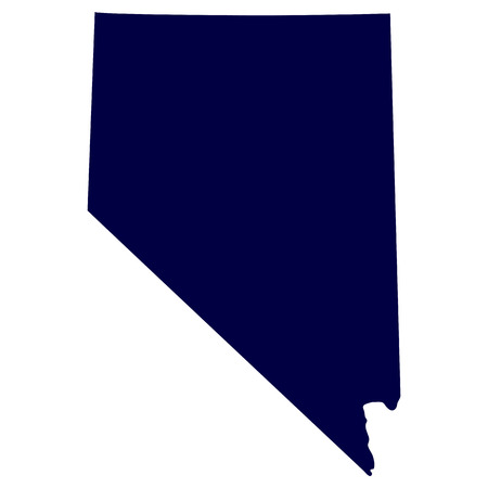 map of the U S  state of Nevada
