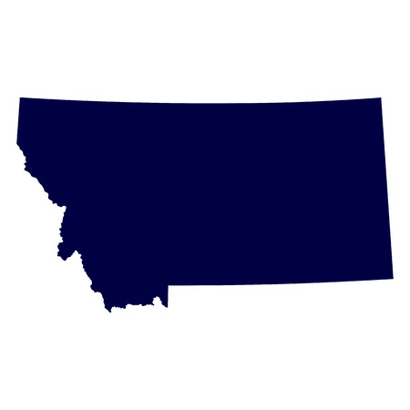 map of the U S  state of Montana