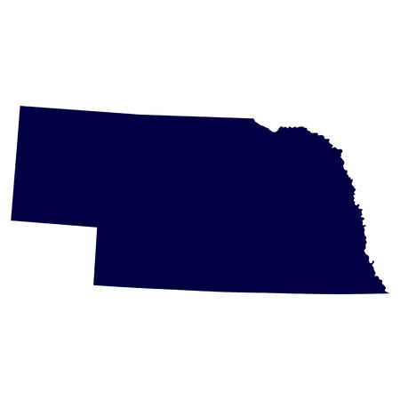 map of the U S  state of Nebraska Vector