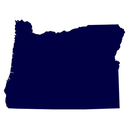 map of the U S  state of Oregon Illustration