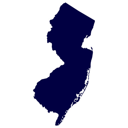 map of the U S  state of New Jersey Vector