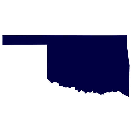 map of the U S  state of Oklahoma Vector