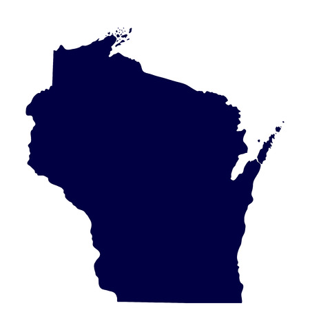map of the U S  state of Wisconsin