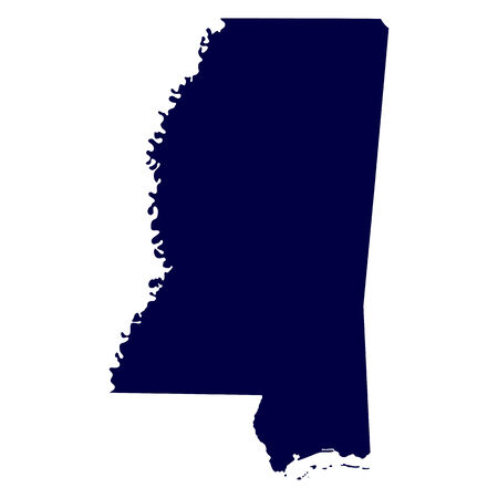 map of the U S  state of Mississippi Vector