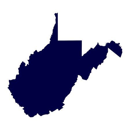 map of the U S  state of West Virginia Vector