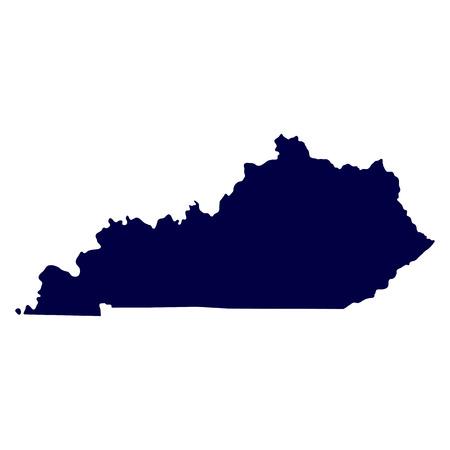 kaart van de Amerikaanse staat Kentucky