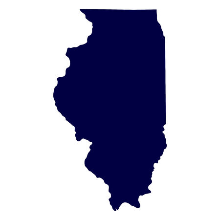 map of the U S  state of Illinois  イラスト・ベクター素材