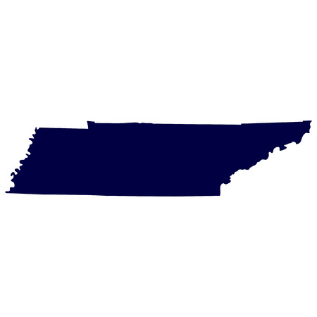map of the U S  state of Tennessee