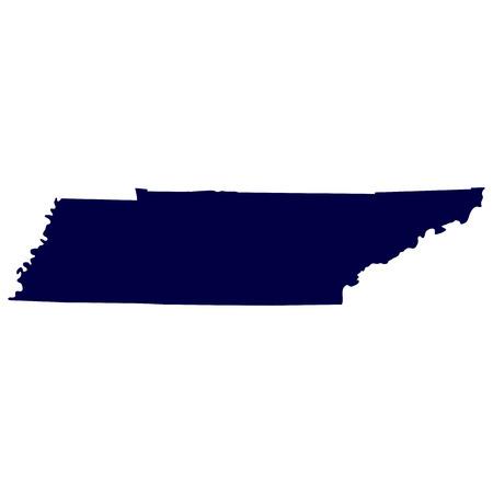 tennesse: mapa del estado de Tennessee EE.UU. Vectores