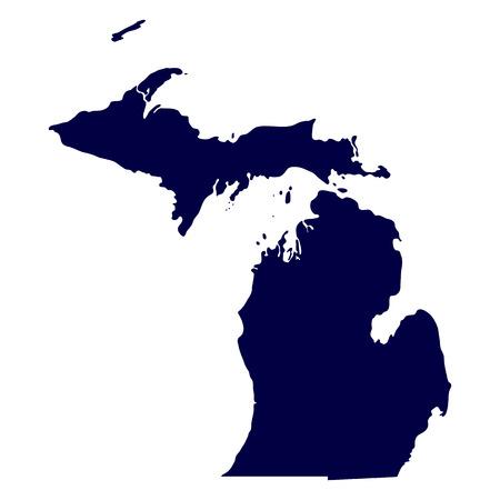 map of the U S  state of Michigan 일러스트