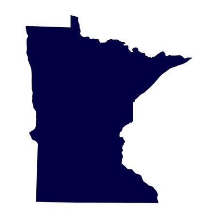 kaart van de Amerikaanse staat Minnesota Stock Illustratie
