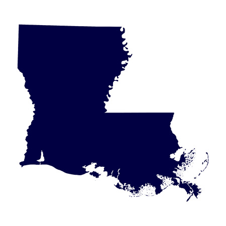 map of the U S  state of Louisiana Vector