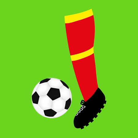 foot football and soccer ball Vector