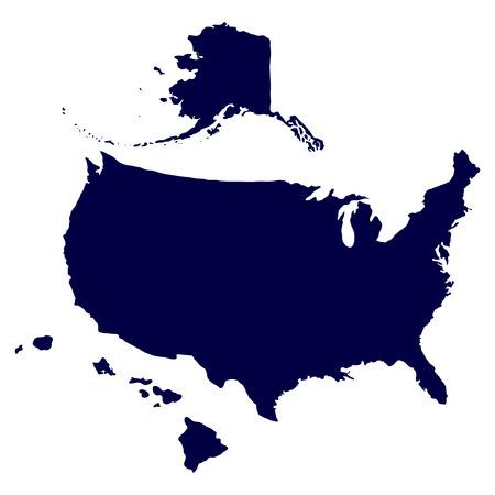 United States of America Map  Illustration
