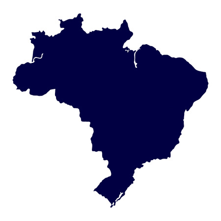 brazil symbol: Map of Brazil on white background