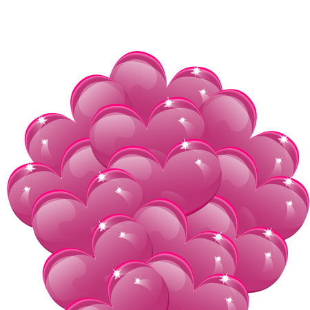 faithfulness: Balloons in the shape of pink hearts