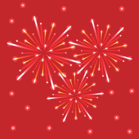 ciel rouge: feux d'artifice dans le ciel rouge