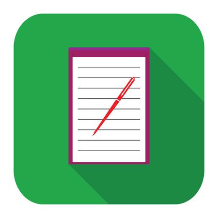 Icon notebook Vector