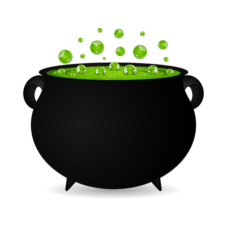 cauldron witches potion for Halloween Иллюстрация