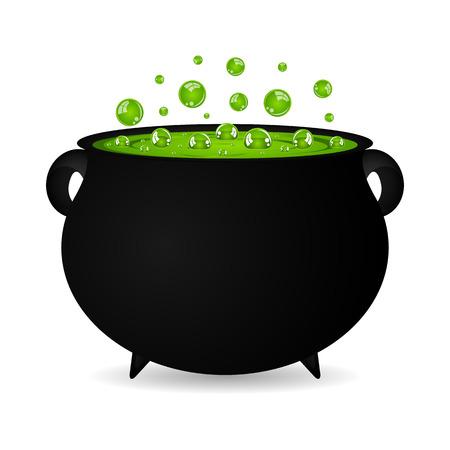 cauldron witches potion for Halloween Stock Illustratie