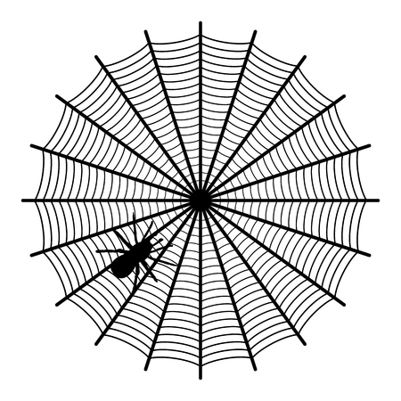 corrosive poison: spider on a web
