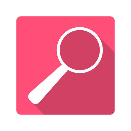 clarity: Flat design icon.magnifying glass