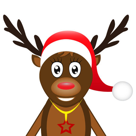reindeer on a white background Vector