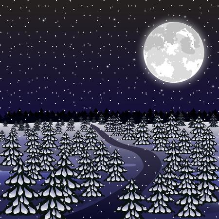 night background: Christmas night background