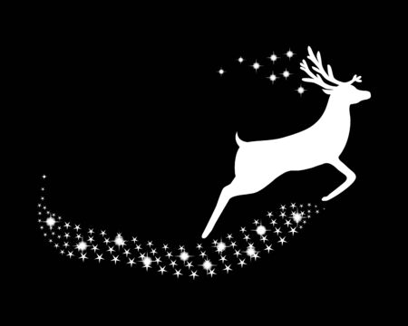 horny: Reindeer with stars and glitter