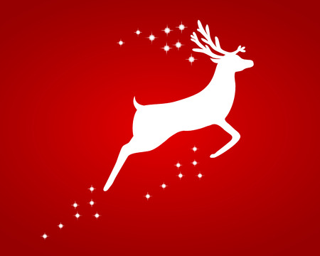 Reindeer with stars Illustration