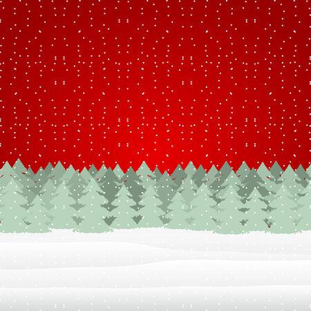 Winter Christmas landscape Vector