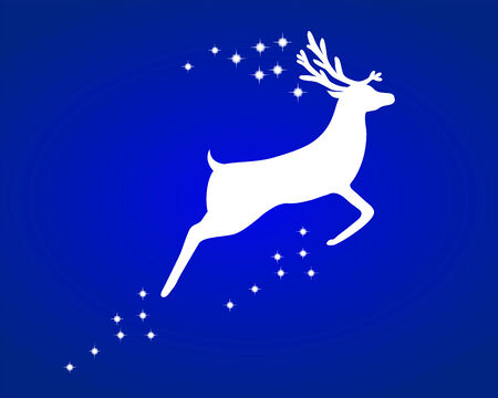 horny: Reindeer with stars Illustration
