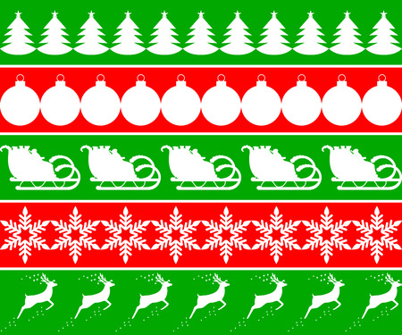 Elements of design for the New Year. Christmas tags Vector