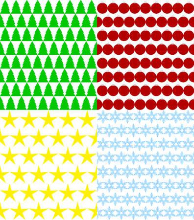 christmas backgrounds: set of seamless Christmas backgrounds Illustration