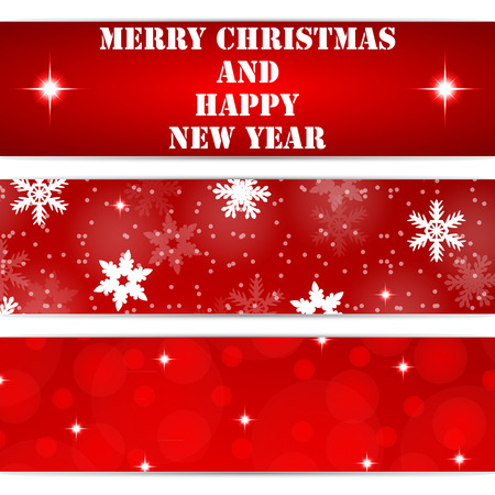 Christmas tags on white background Ilustração