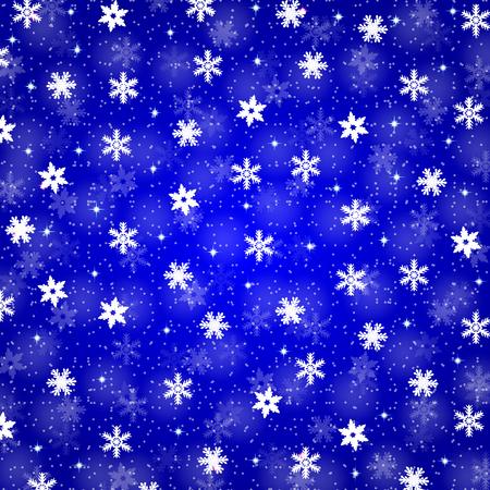christmas background with snowflakes Ilustração