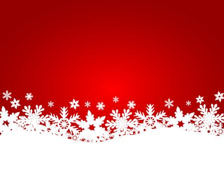 neige noel: Arri�re-plan de No�l rouge