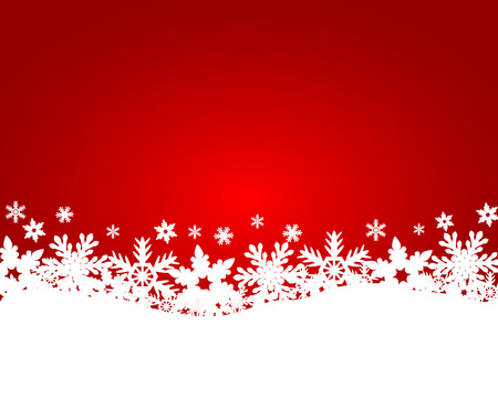 christmas snow: Christmas red background Illustration