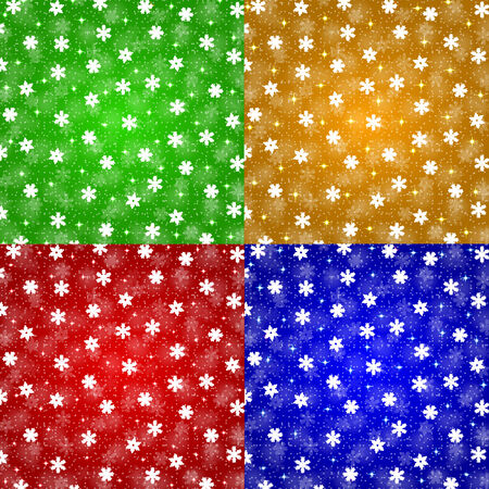 christmas backgrounds: Set of Christmas backgrounds with snowflakes